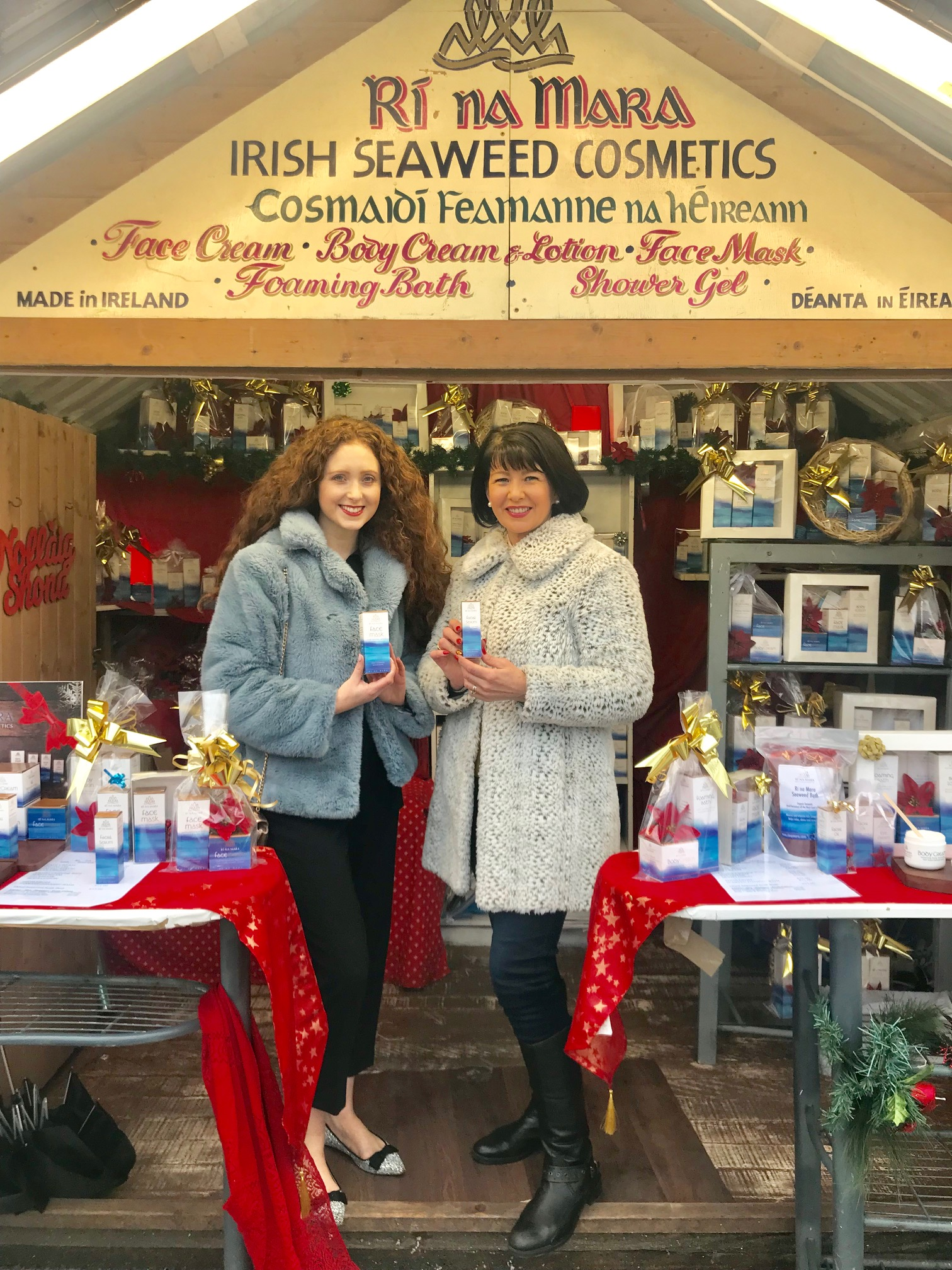 With fabulous owner & founder of Rí na Mara, Deirdre, at Galway Christmas Market