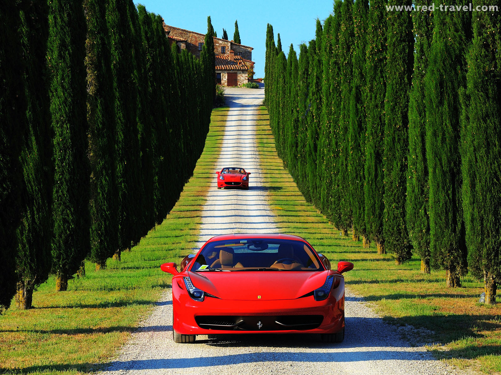 TOSCANA IN FERRARI - Each journey is a sublime blend of art, fashion, architecture, gastronomy and spectacular scenery.Our guests will feel part of a real Ferrari team, enjoying the opportunity to personally drive the very latest models. Travelling for kilometres, accelerating through the steep, winding roads of Lazio, Umbria and Tuscany, along the route of the legendary Mille Miglia race, putting their driving skills to the ultimate test.As a relaxing contrast to the exhilaration of driving a Ferrari, our journeys include wellness programmes at the Fonteverde Tuscan Resort & Spa, a world-class spa hotel located in the midst of the rolling hills of the Val d'Orcia.