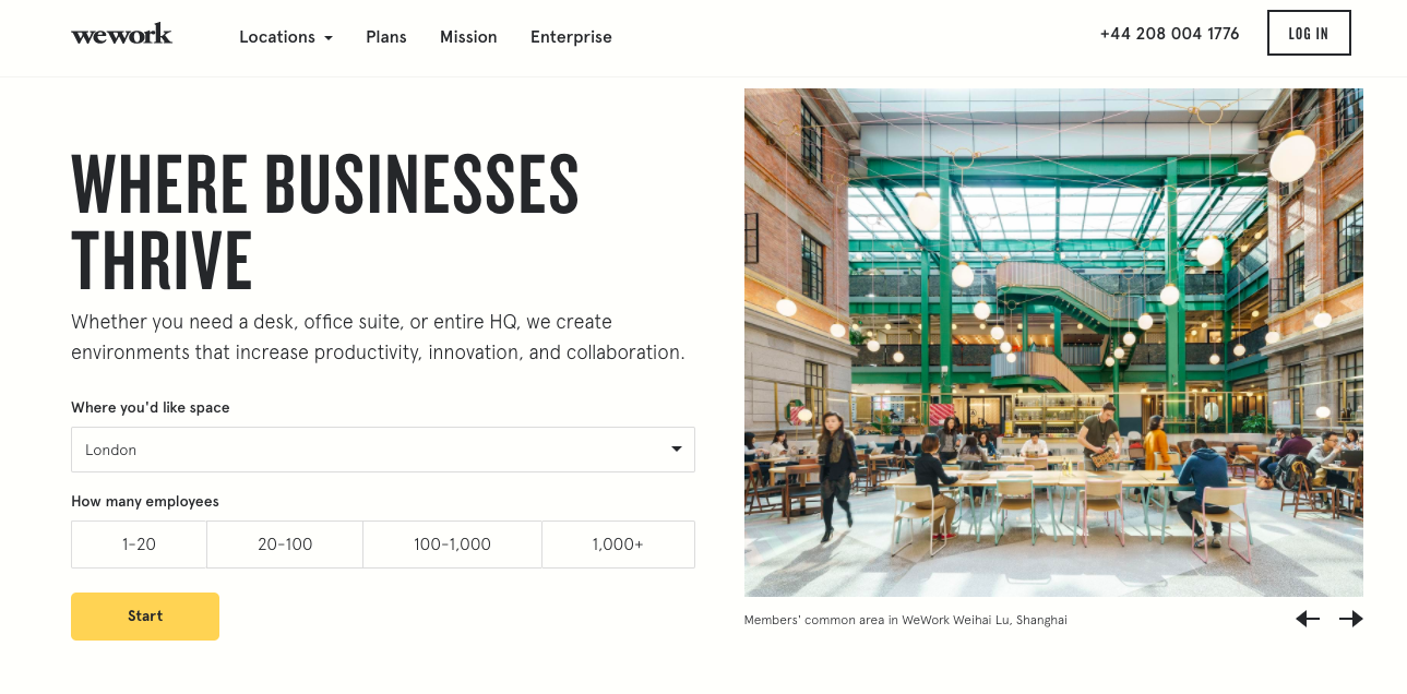出典: WeWork - Homepage