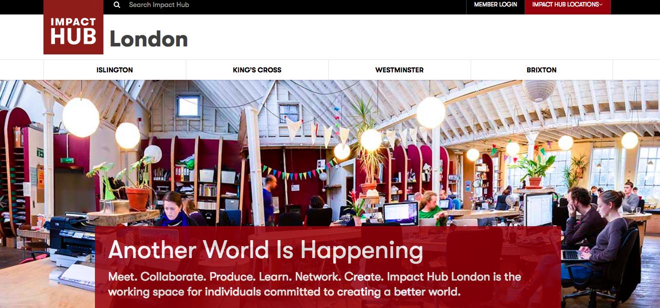 出典: Impact Hub London - Homepage