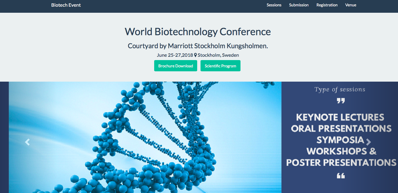 出典: World Biotechnology Conference