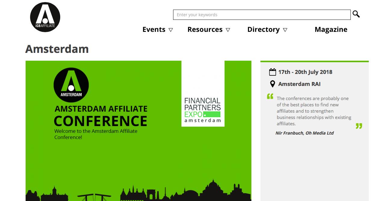 出典: Amsterdam Affiliate Conference