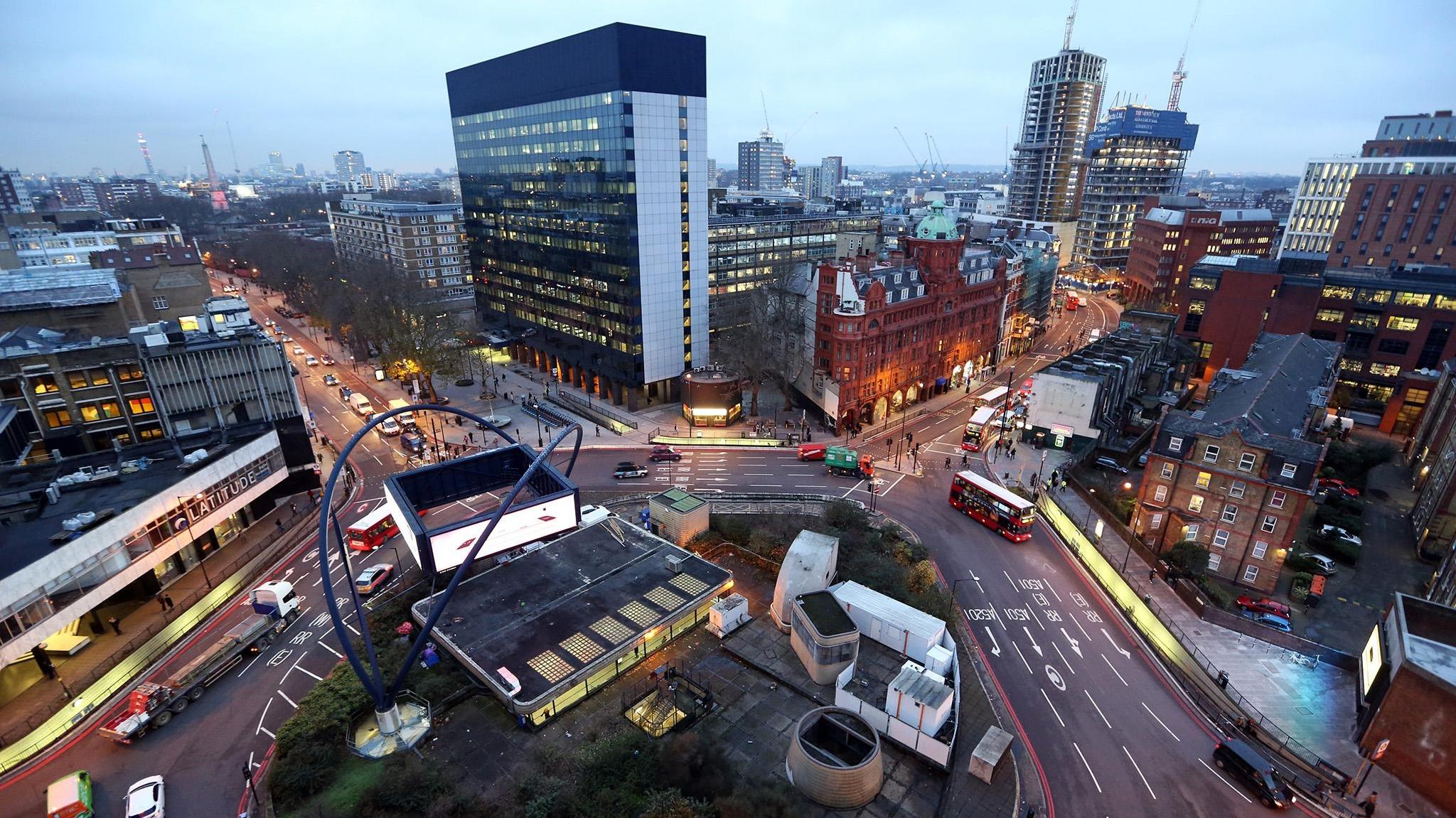 ロンドンのテックスタートアップ中心地、シリコン・ラウンダバウト。 出典:https://flic.kr/p/24GfdNm