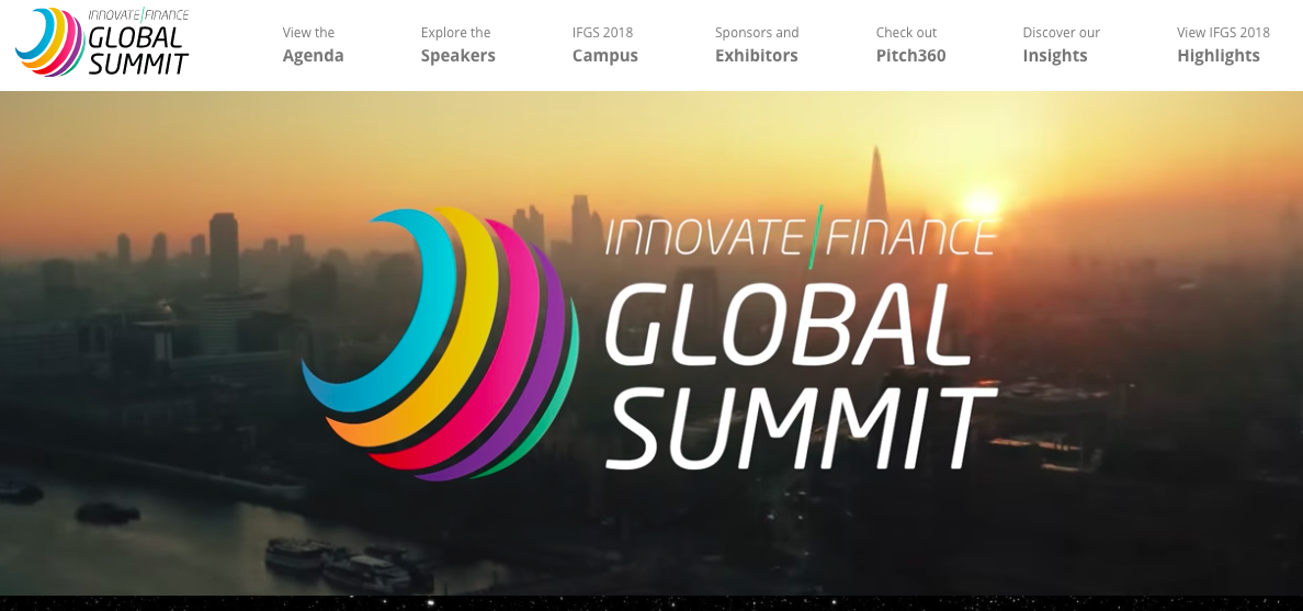 出展: Innovate Finance Global Summit