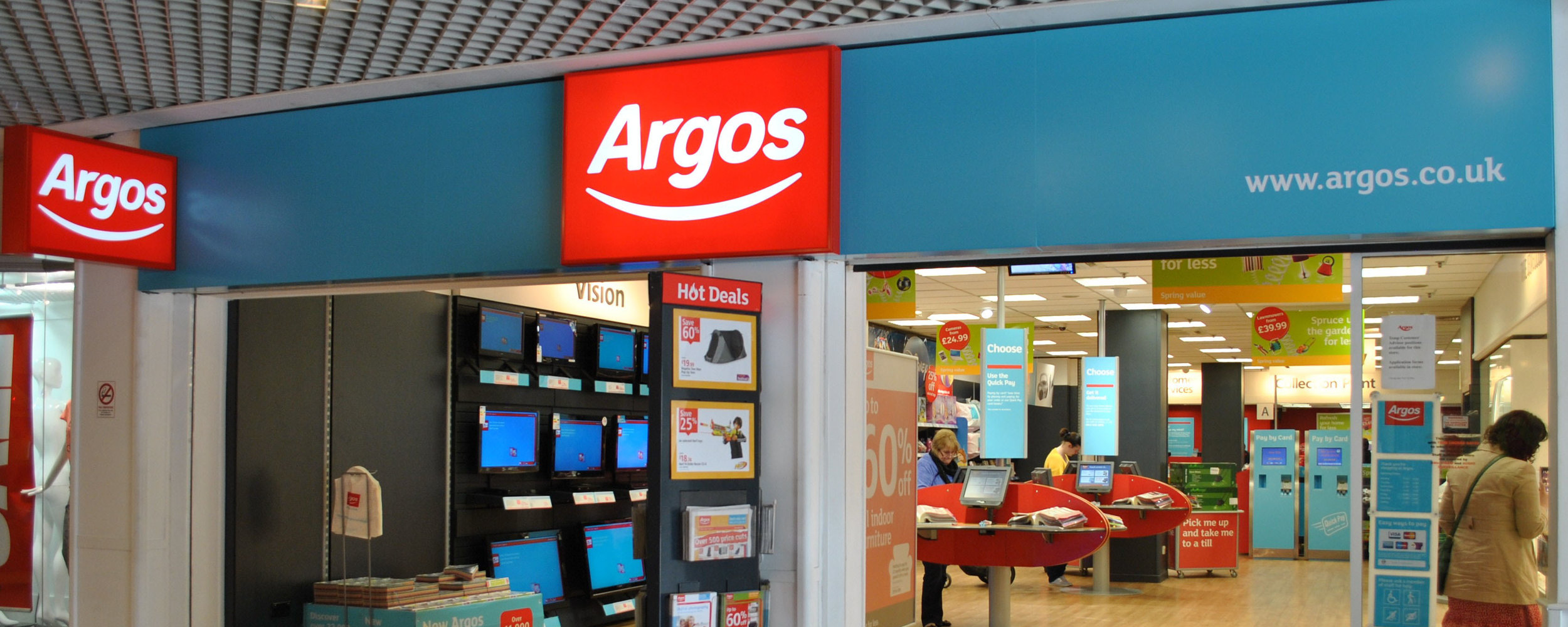 イギリス大手電化製品・家具取扱店アーゴス( Argos )の店舗例。出典: HRReview