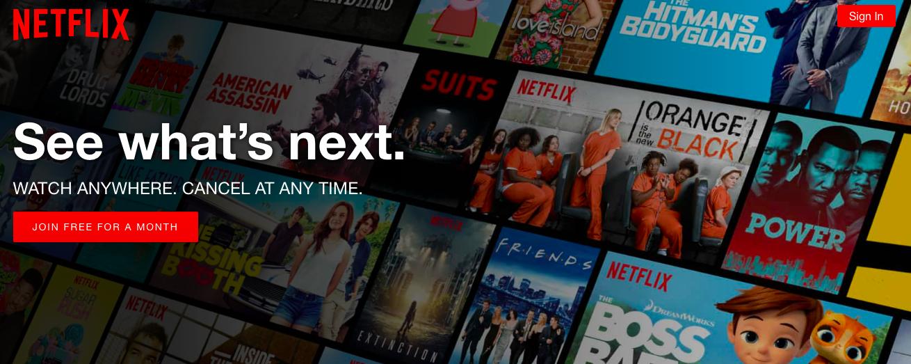 日本でも人気を誇る映画ストリーミングサイト、ネットフィリックス( Netflix 、通称ネトフリ)はイギリスでも圧倒的な人気を持つ。