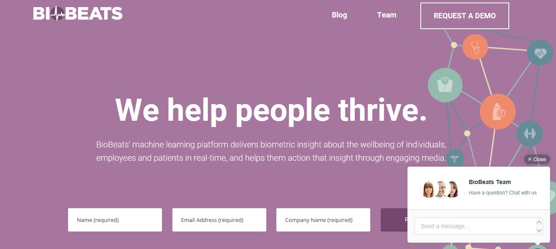 出典: https://www.aimlmarketplace.com/startup/biobeats