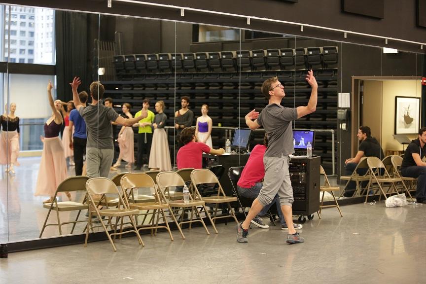 Ashley Wheater in rehearsal. Photo credit Cheryl Mann.