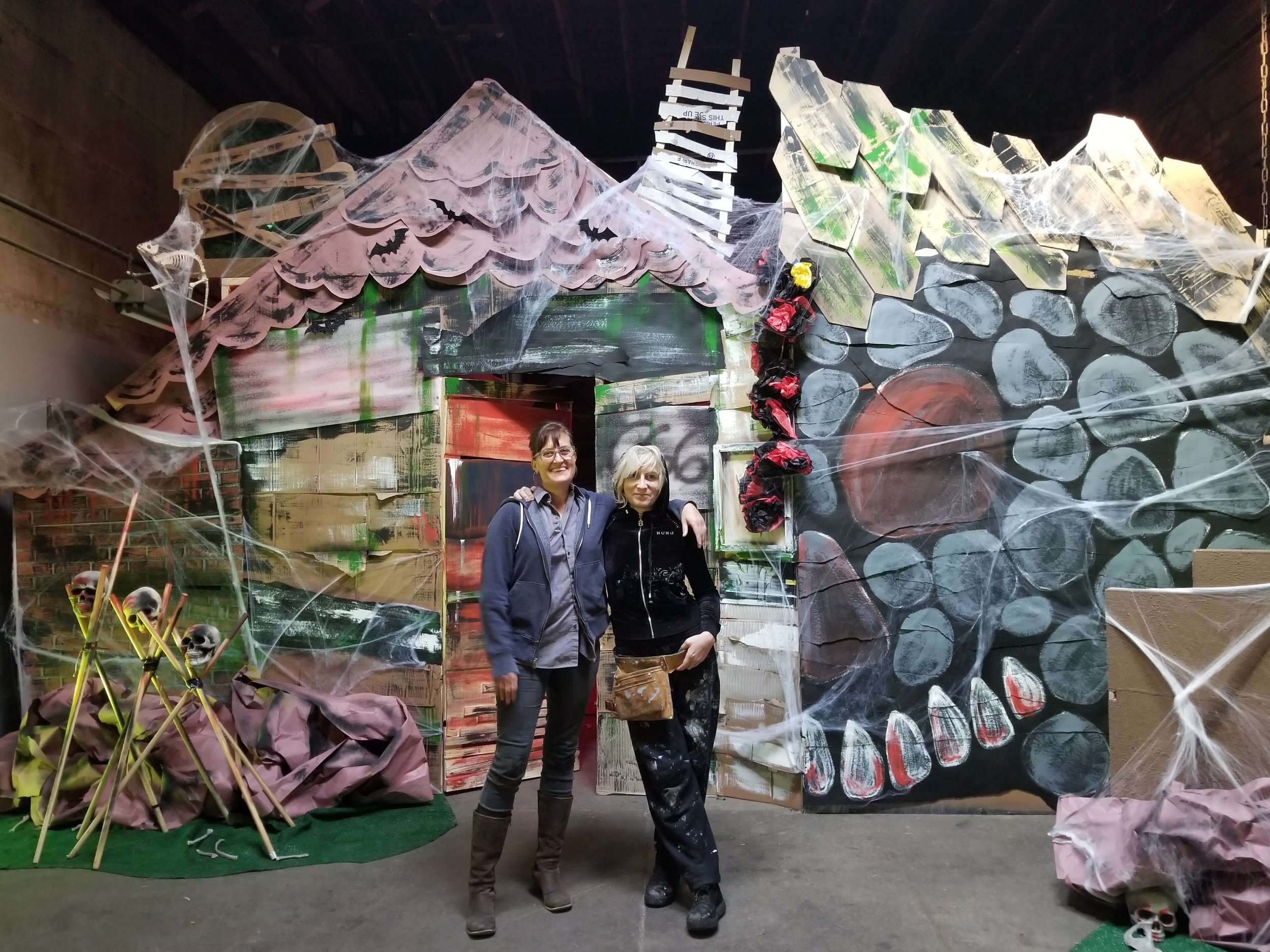 A MEMORY PALACE OF FEAR co-creators, Martha Bayne and Andrea Jablonski