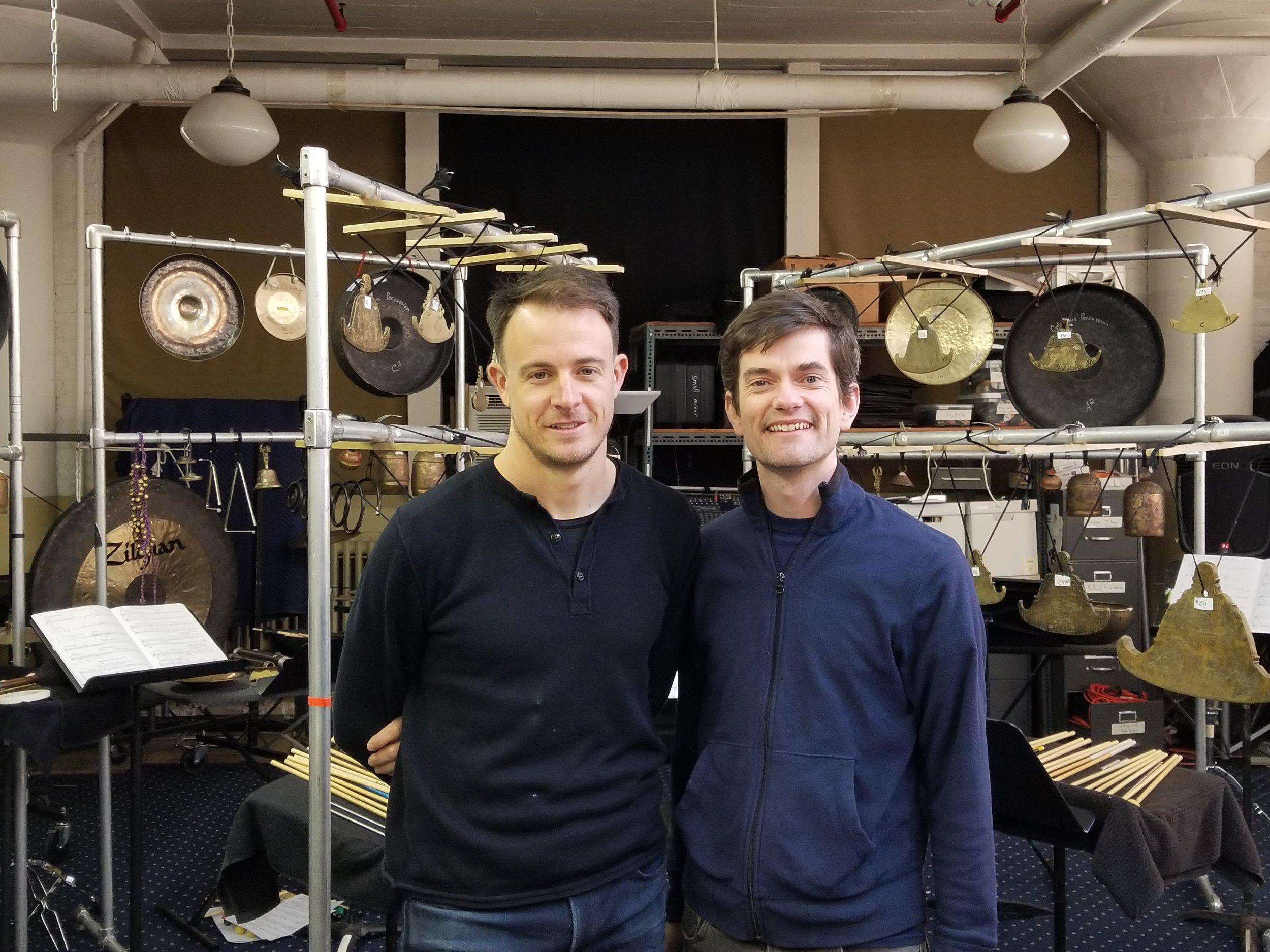 Third Coast Percussion ensemble members, David Skidmore and Sean Connors