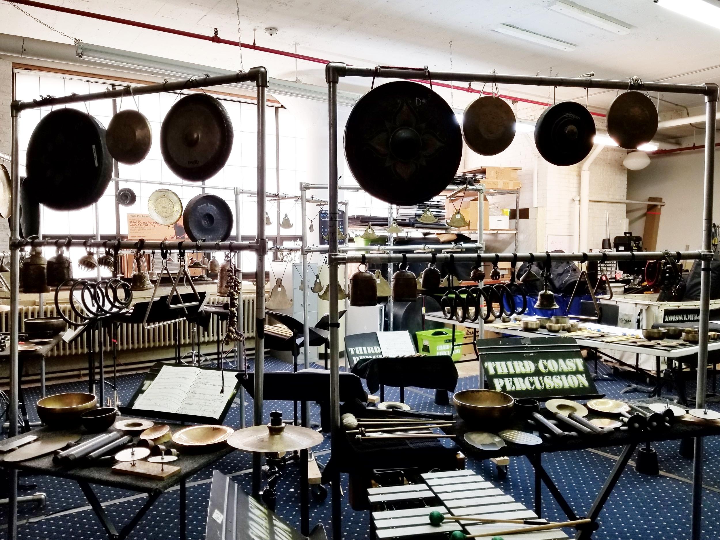 Inside Third Coast Percussion's studio