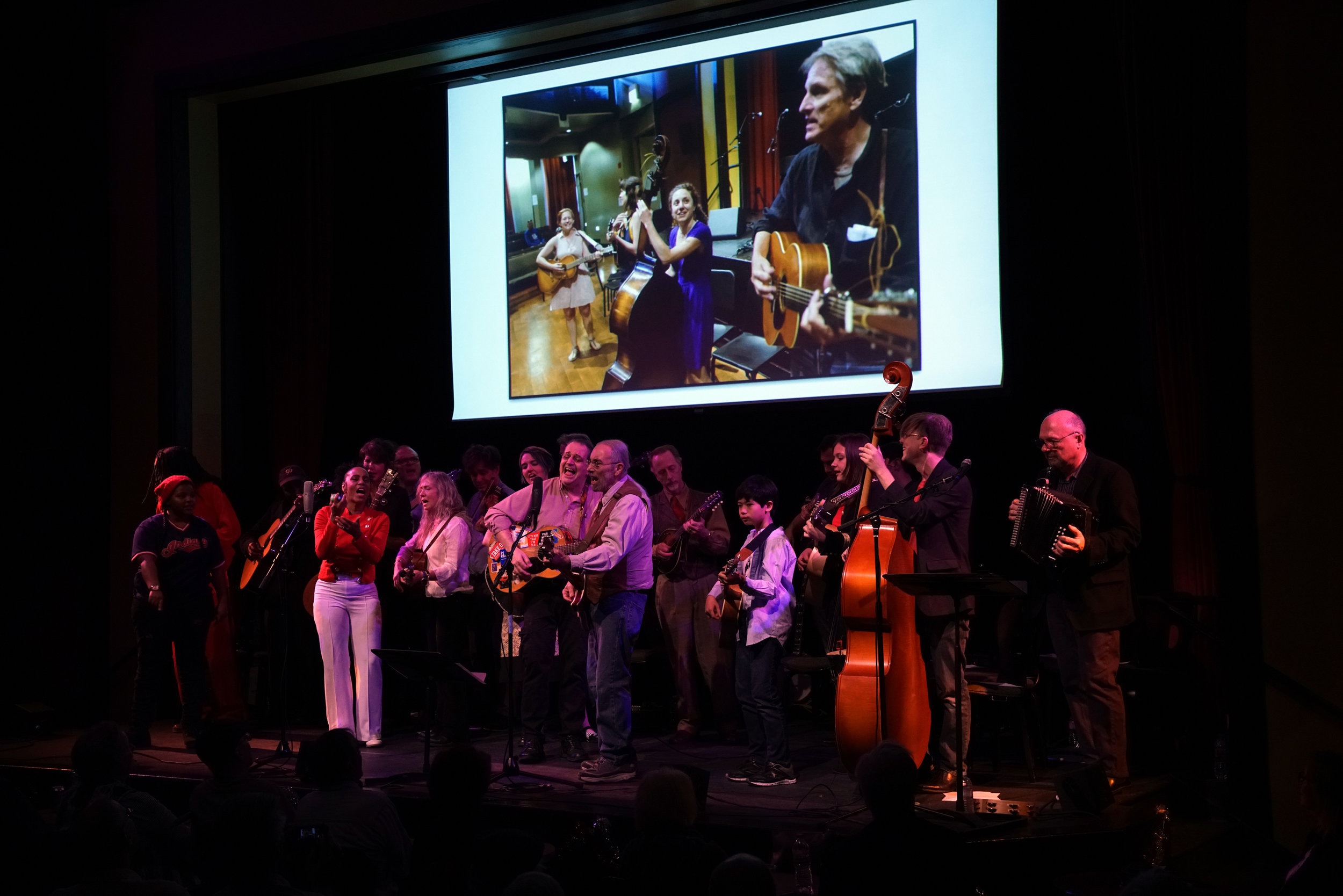 Performers at the Old Town School of Folk Music 60th Anniversary Concert (courtesy of the school)
