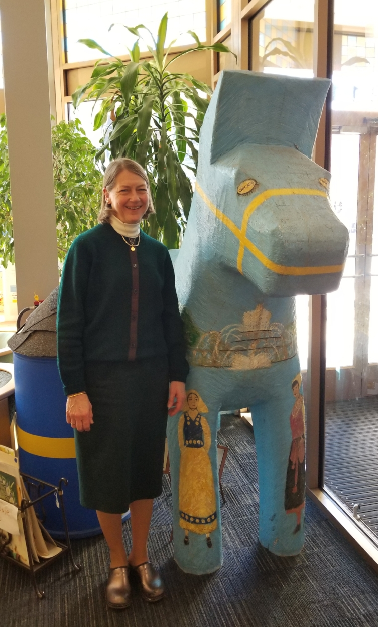 Karin Moen Abercrombie, executive director of Swedish American Museum