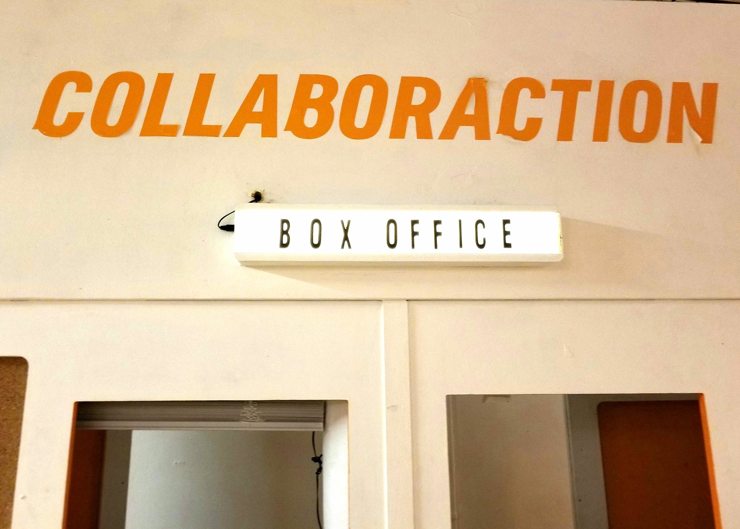 Inside the lobby of Collaboraction