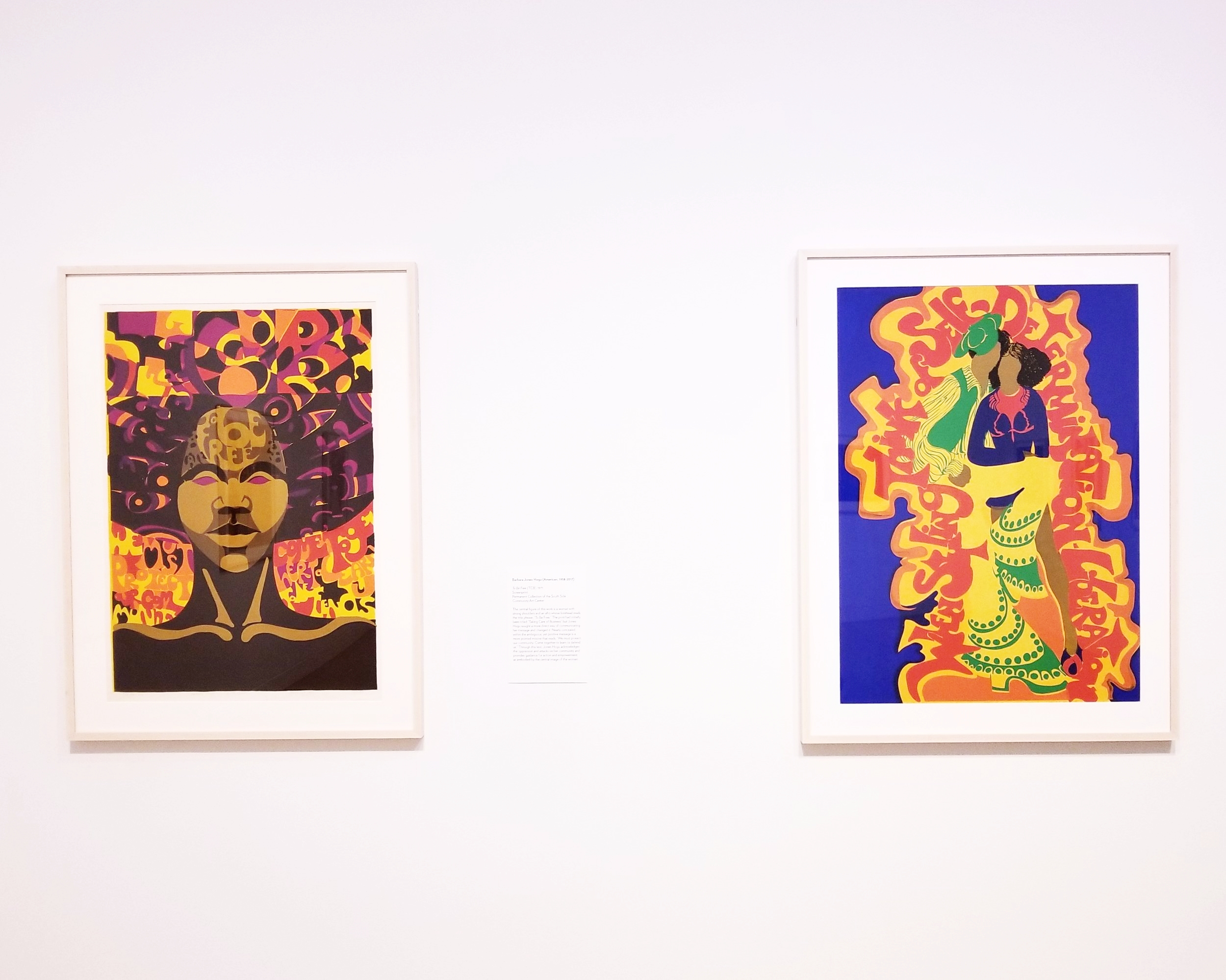 (left to right) TO BE FREE, 1971 & WHEN STYLING, 1973 Barbara Jones-Hogu