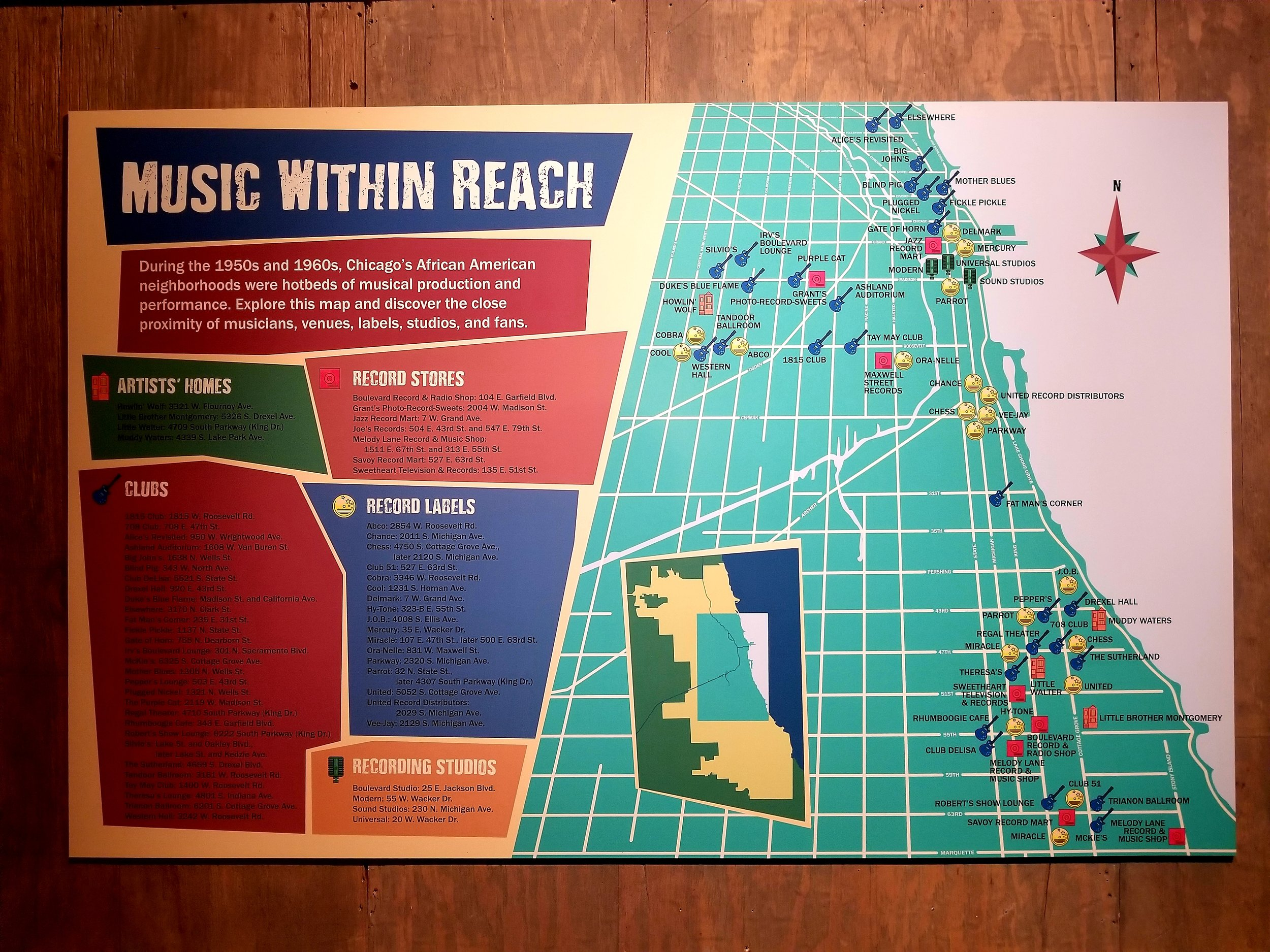 Map of Chicago's Blues scene in the 50's & 60's