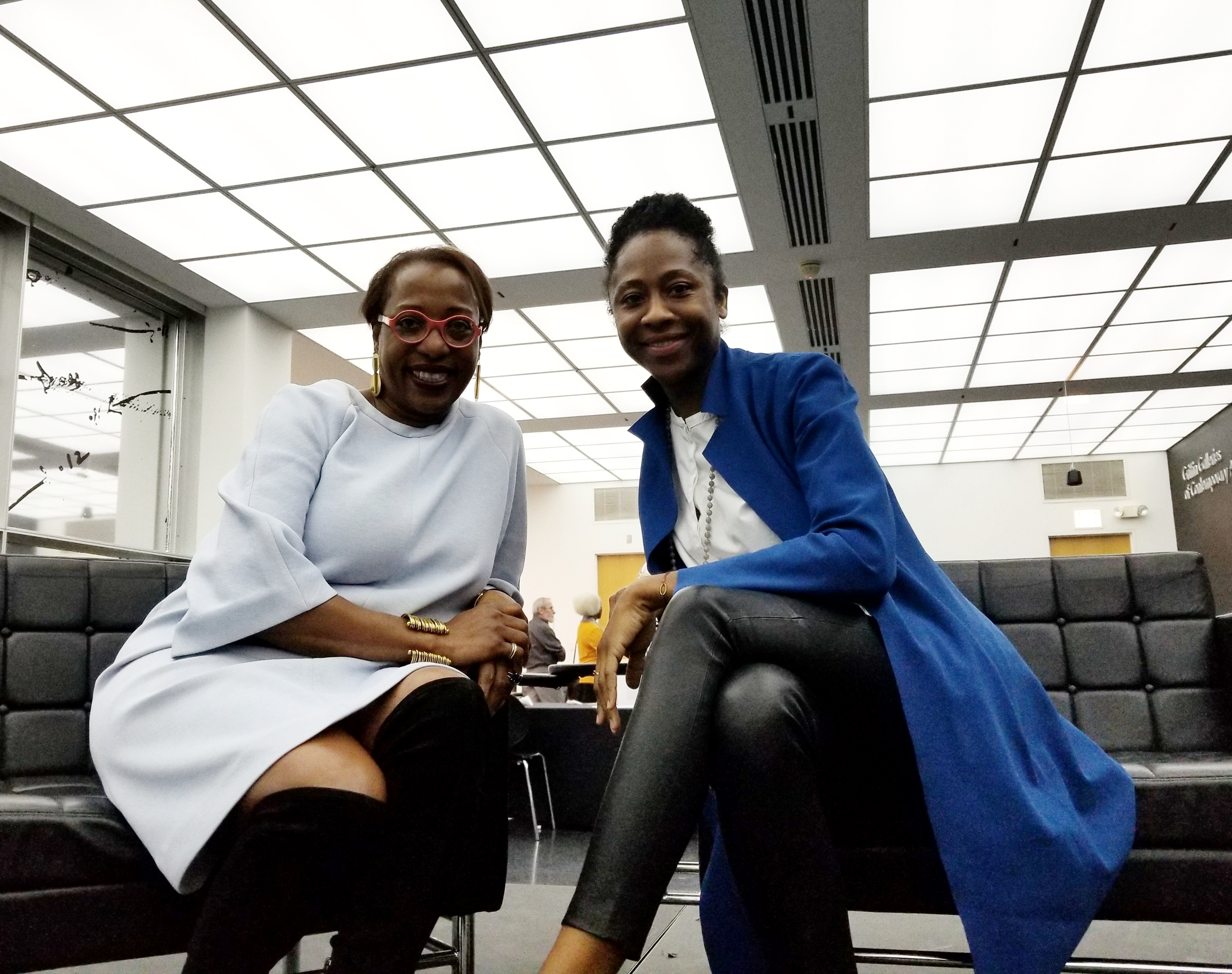 Virginia Museum of Fine Arts curator Valerie Cassel Oliver and MCA curator Naomi Beckwith