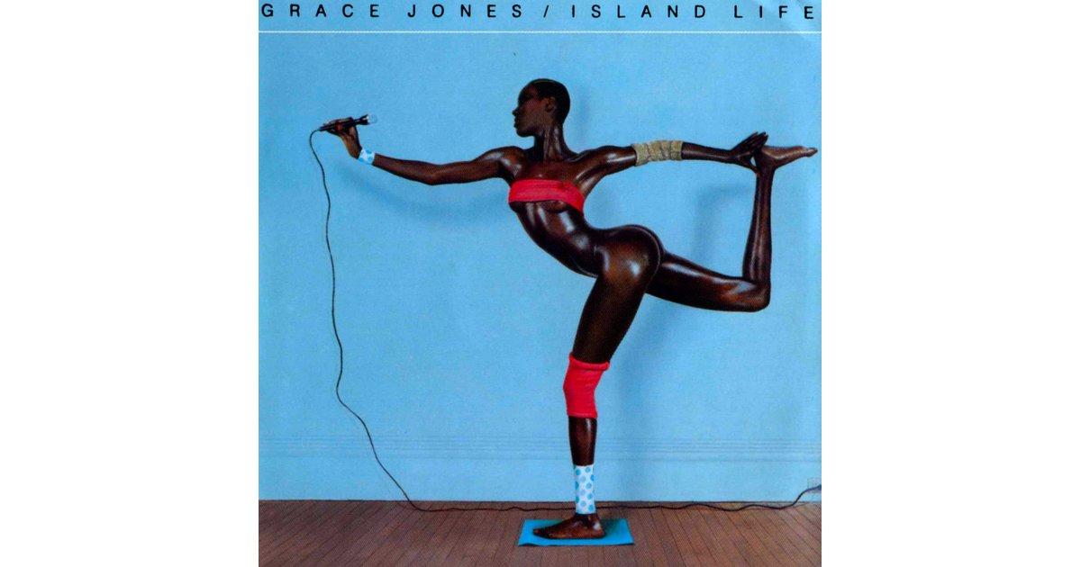 Grace Jones' 1985 Island Life album cover