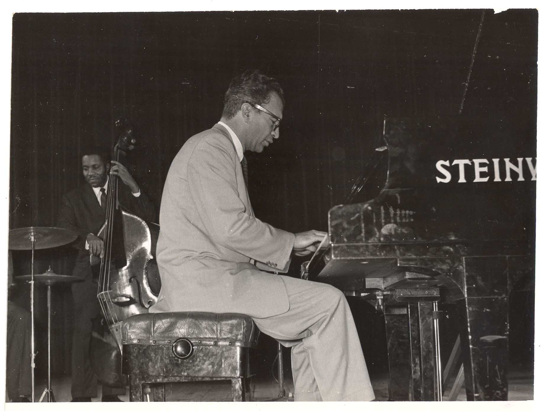 Dave Brubeck performs in Warsaw, Poland in April 1958. Credit: Marek A. Karewicz / Courtesy of the Brubeck Collection, Holt-Atherton Special Collections, University of the Pacific Library. (c) Dave Brubeck.