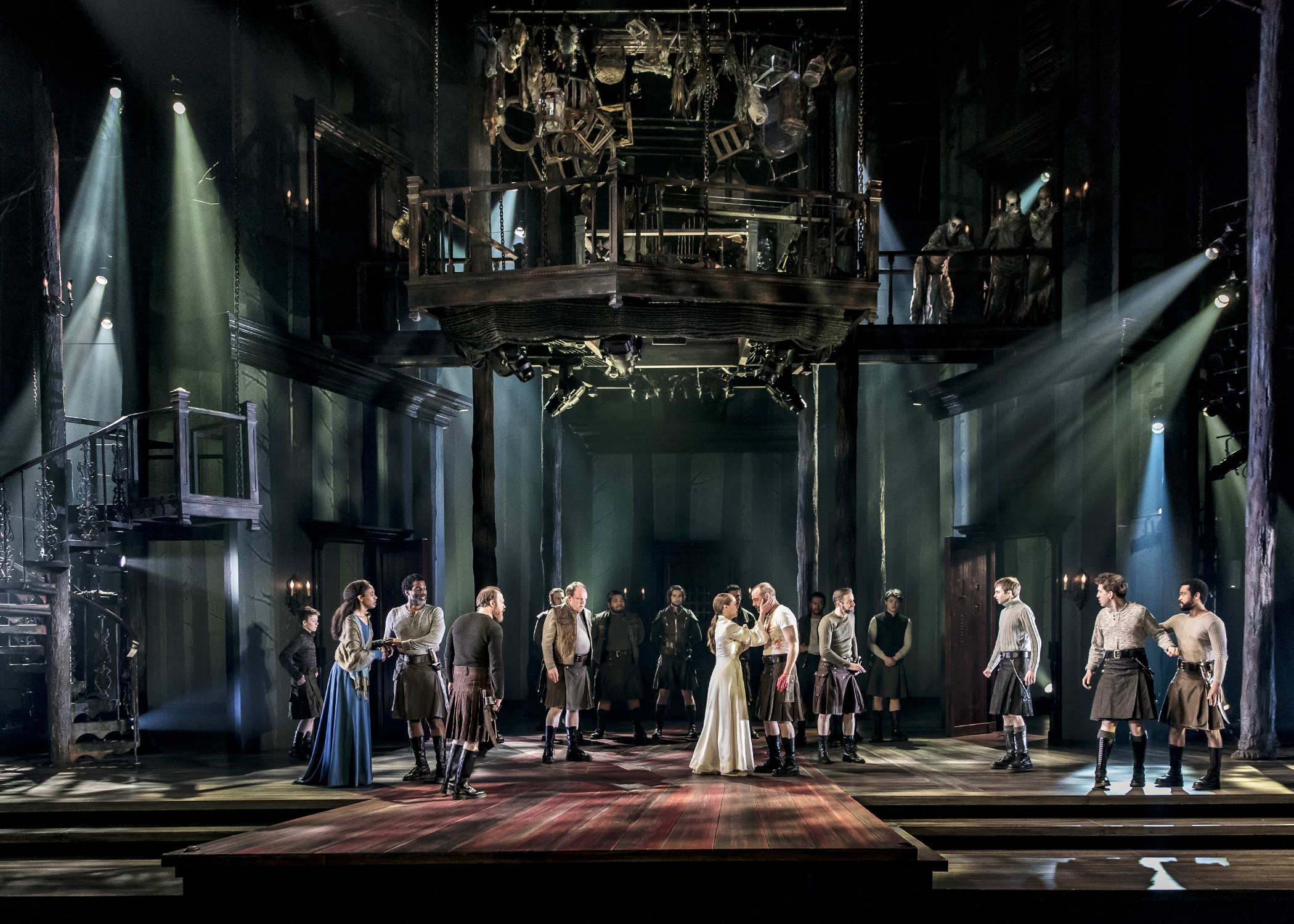 A scene from Chicago Shakespeare Theater's production of  Macbeth. Photo by Liz Lauren