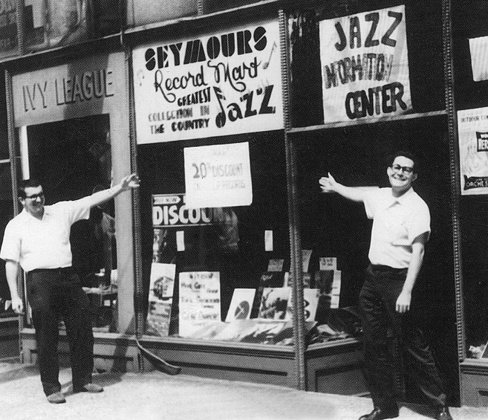 Bob Koester in front of what would become his first Chicago music store.