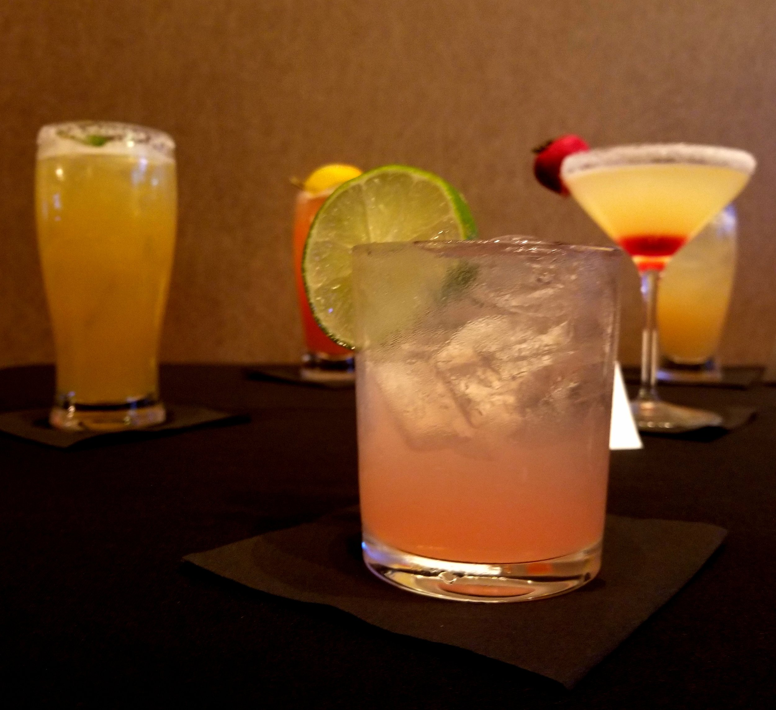 Selection of craft cocktails available at CMX Cinebistro