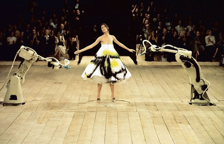An image from McQueen's famous 1999 Spring collection show