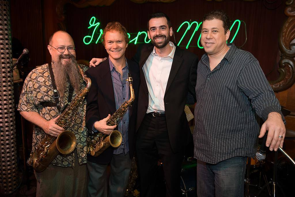 From left to right: Cameron Pfiffner, Pat Mallinger, Pete Benson and Ted Sitora