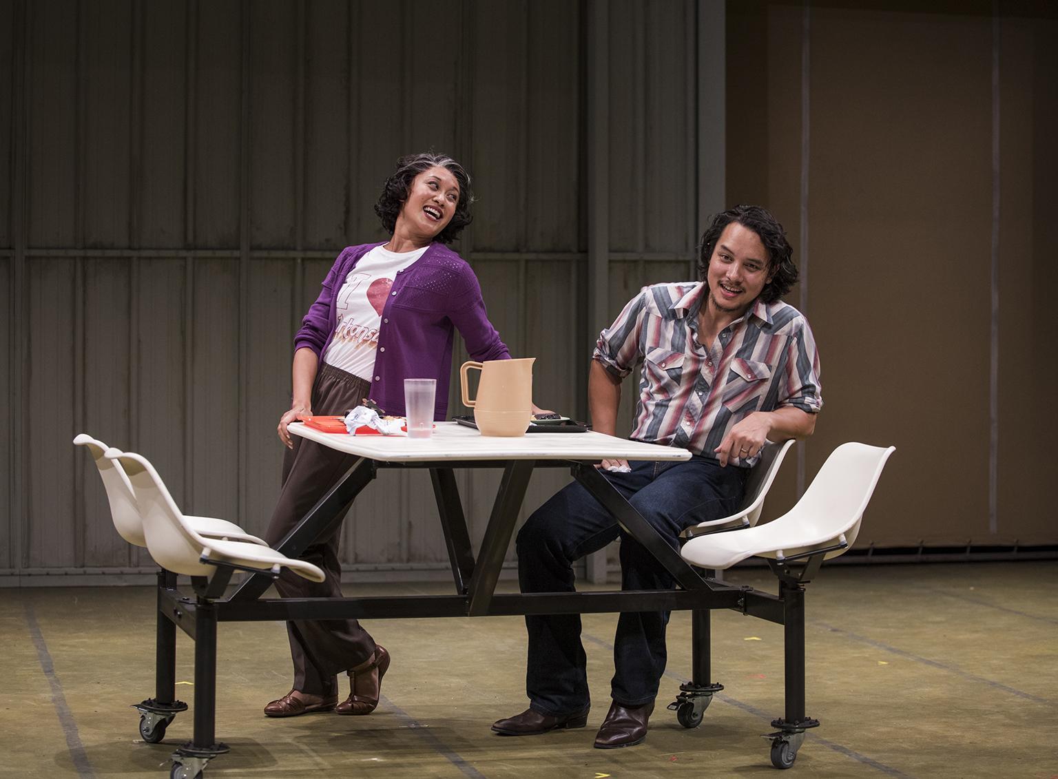 """Emjoy Gavino and Matthew Yee in """"Vietgone."""" (Photo credit: Michael Brosilow)"""