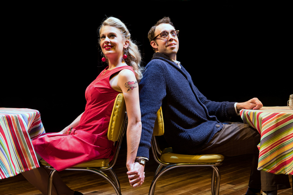 Anne Horak and Alex Goodrich in Marriott Theatre's production of SWEET CHARITY