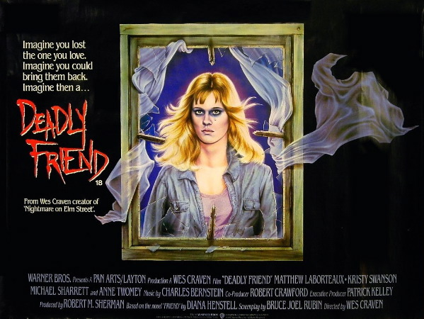 A lesser known Wes Craven film, DEADLY FRIEND is good for more than just that one GIF,