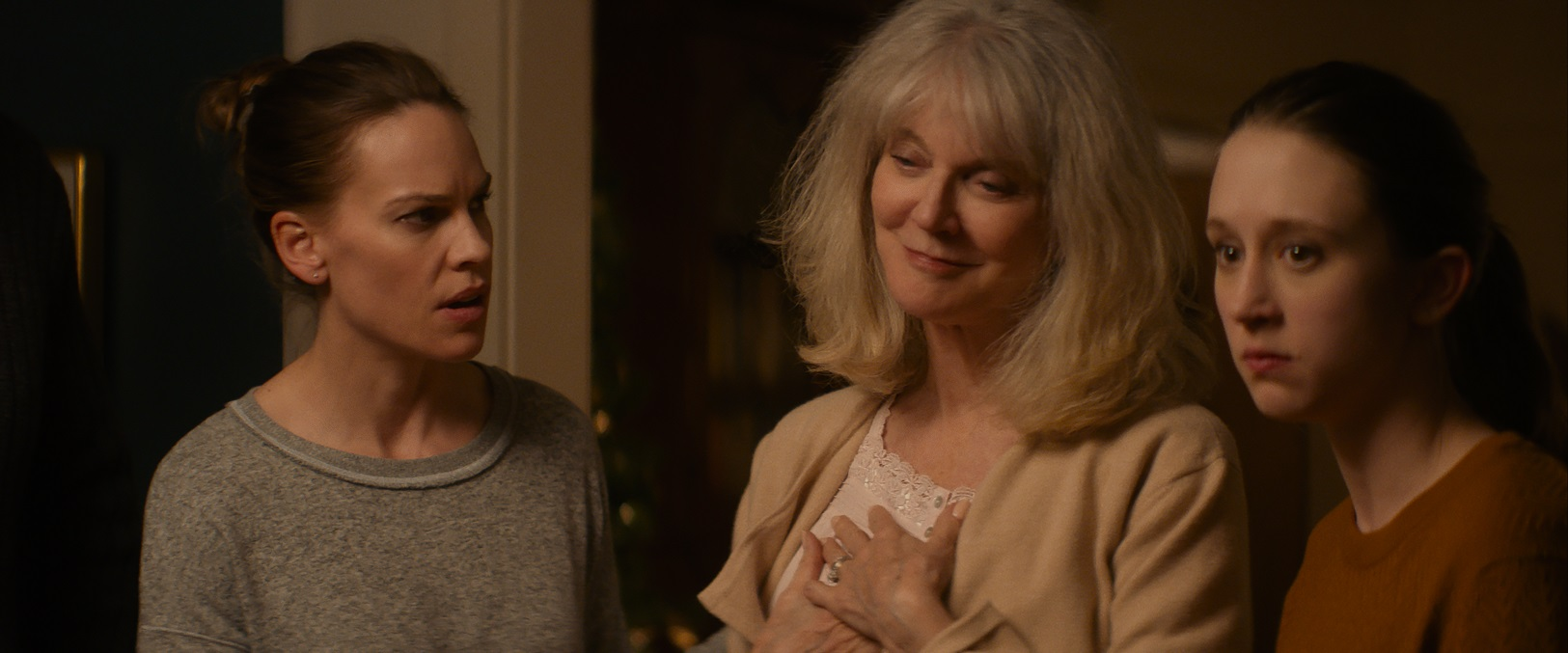 Hilary Swank, Blythe Danner & Taissa Farmiga in WHAT THEY HAD.
