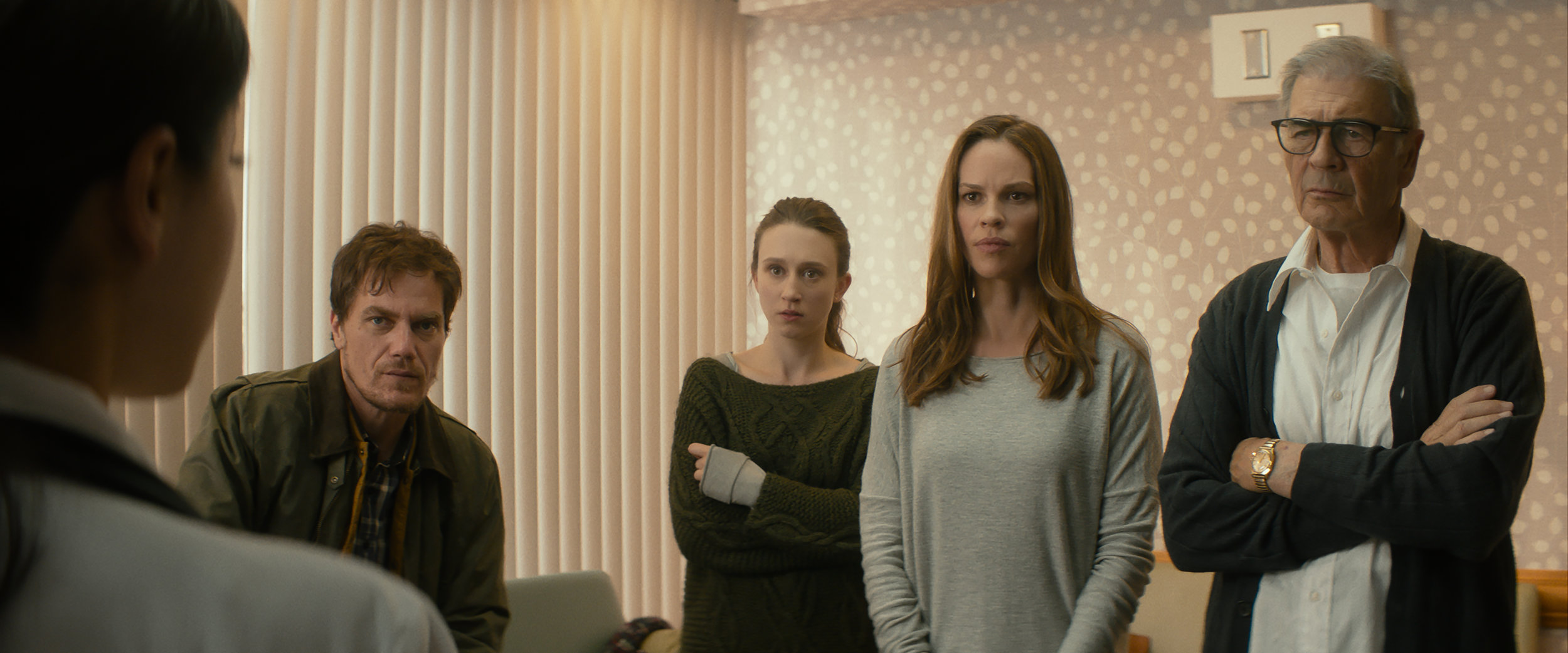 Michael Shannon, Taissa Farmiga, Hilary Swank and Robert Forester in WHAT THEY HAD