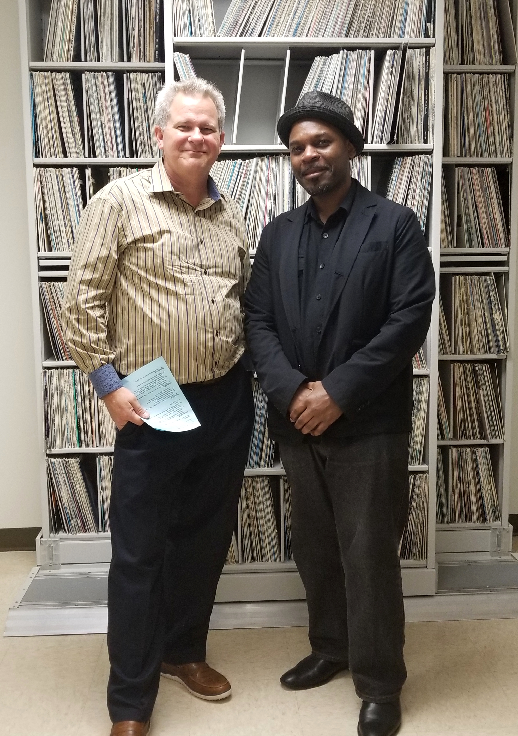 College of DuPage music professor Tom Tallman and composer/pianist Reginald Robinson