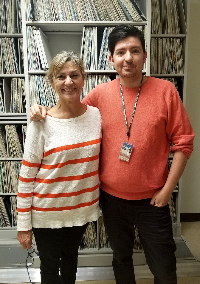 Janet Ulrich Brooks and WDCB's Gary Zidek