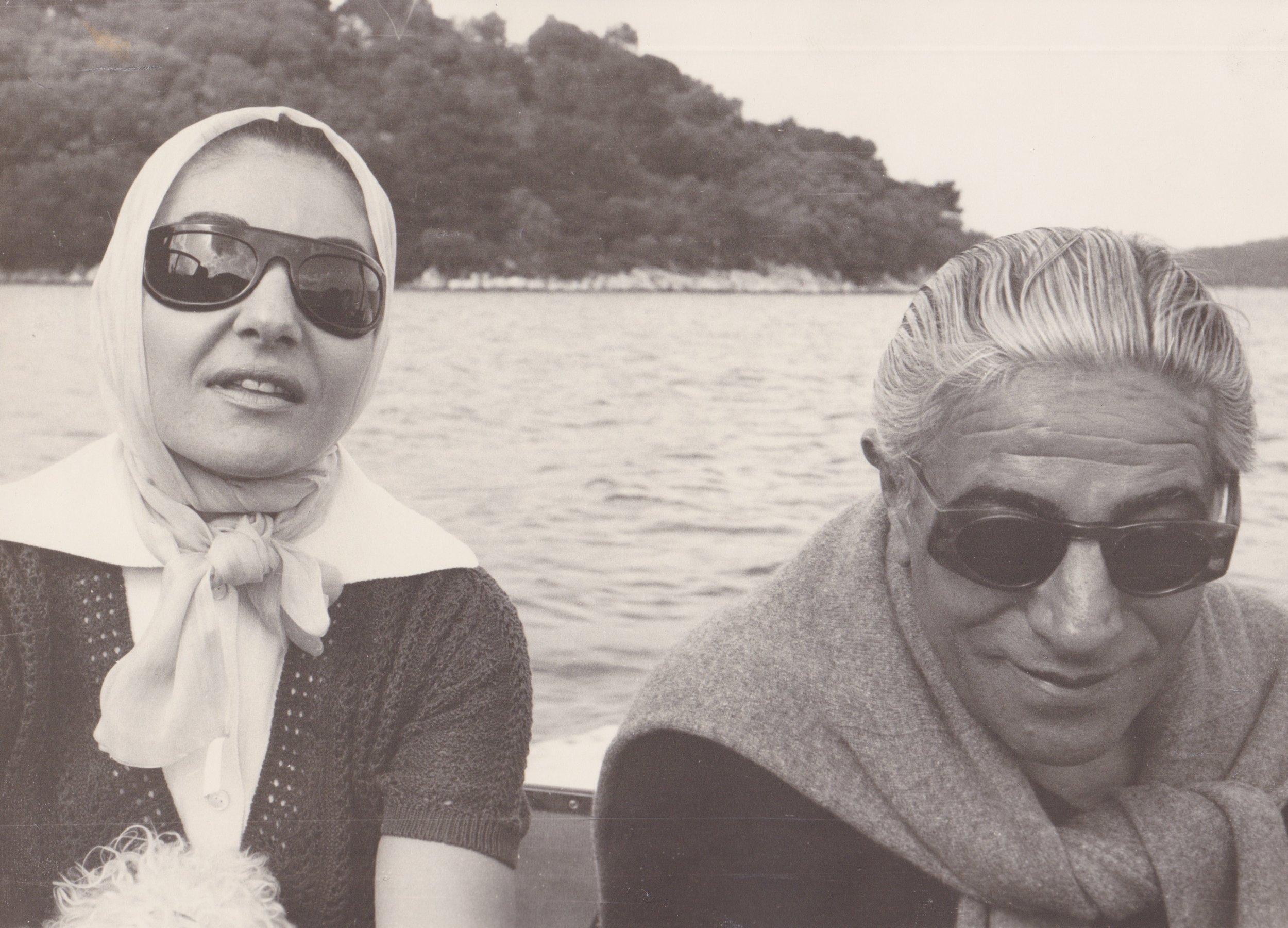 Maria Calls with Aristotle Onassis