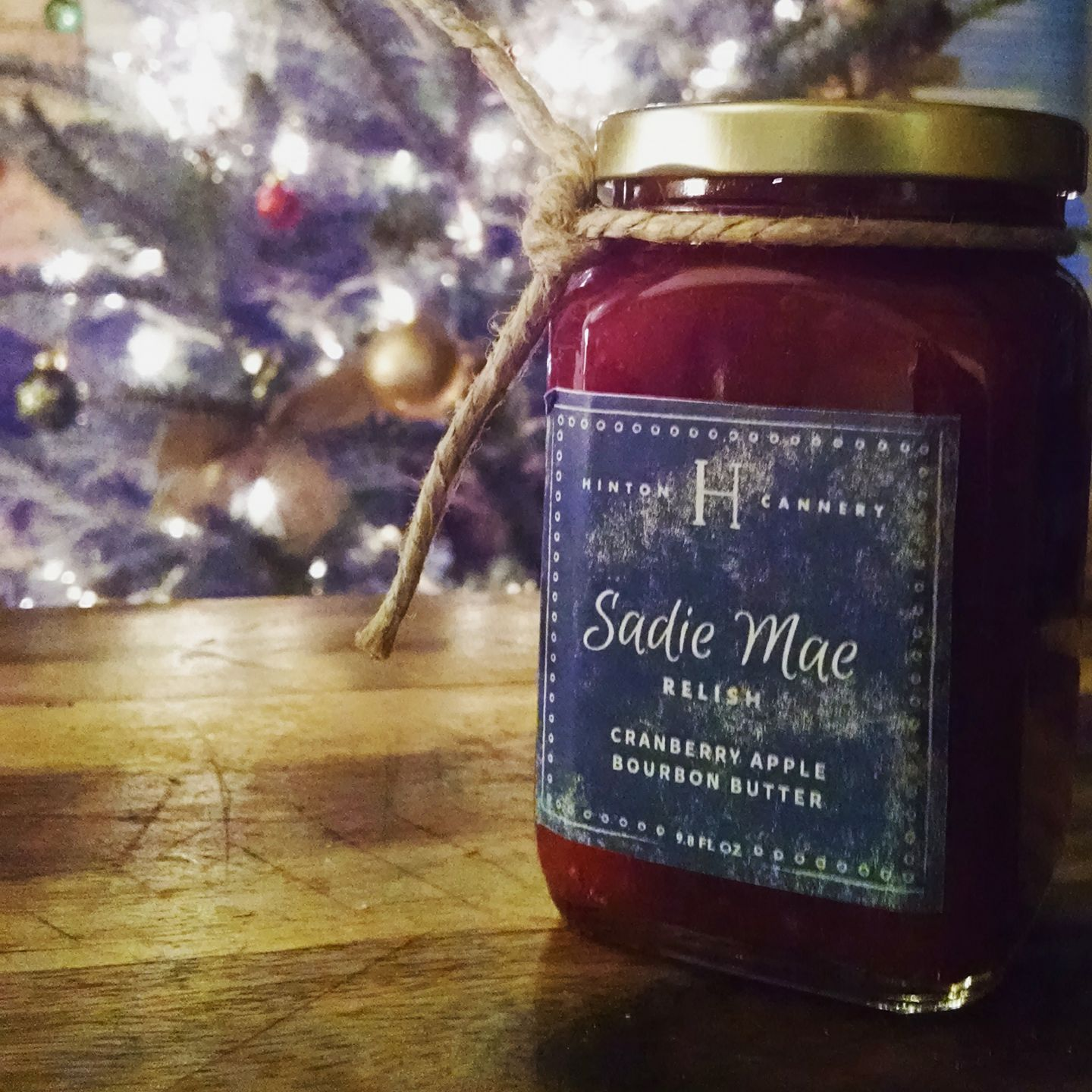 Cranberry Apple Bourbon Butter made by Hinton Cannery