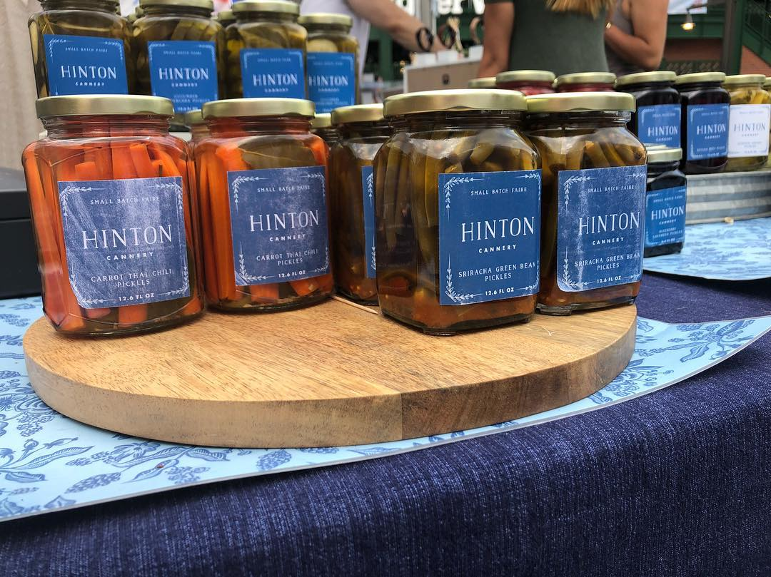 Pickled items from Hinton Cannery