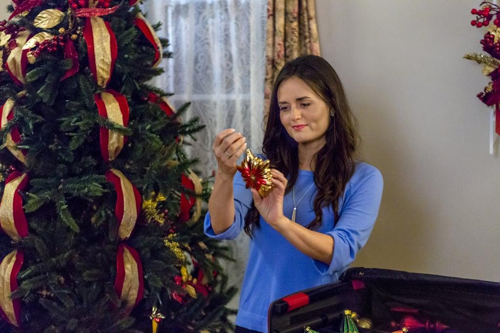 Danica McKellar doing Christmas things in a Hallmark movie