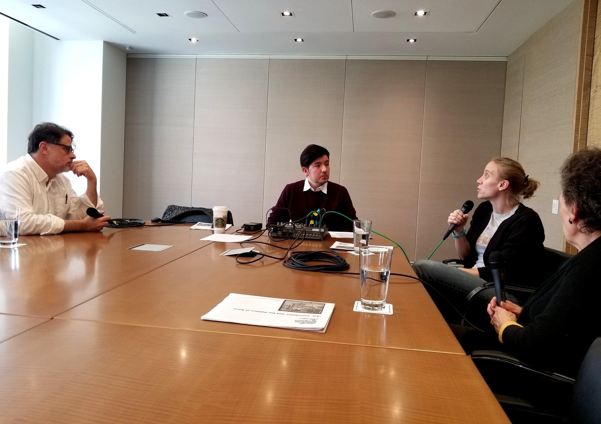 (left to right) Daniel Schulman, Gary Zidek, Lauren Boegen, and Olivia Mahoney