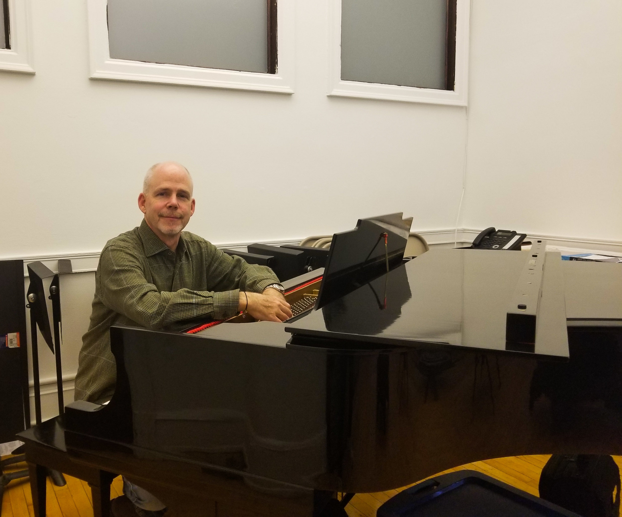 Stephen Burns, the founder and artistic director of Fulcrum Point
