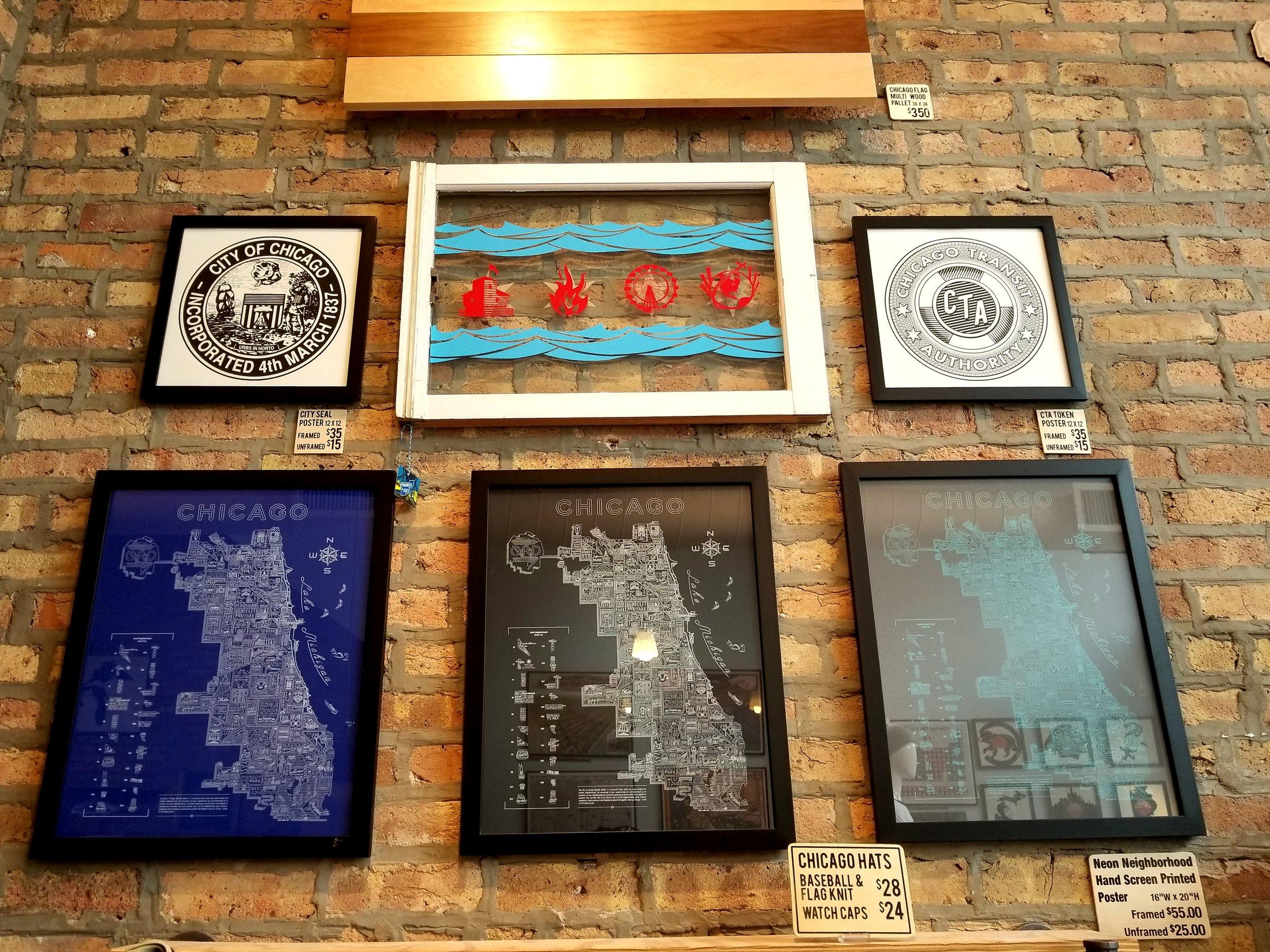City maps inside Transit Tees