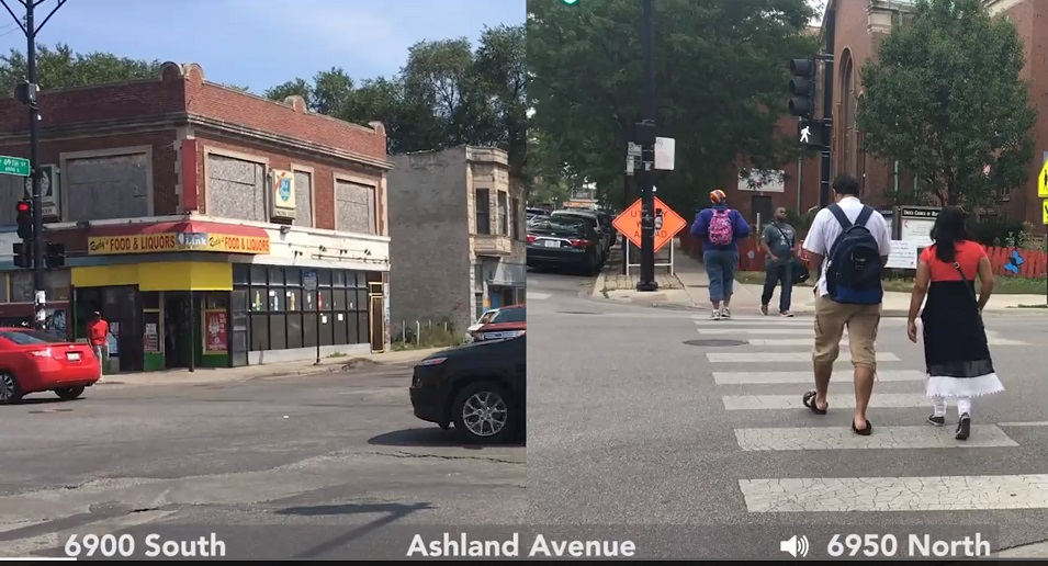 Ashland Avenue south side compared to north side