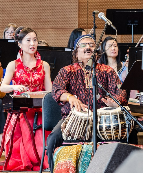 Musicians performing in Chicago Jazz Philharmonic's first Chicago Immigrant Stories concert in the summer of 2018.