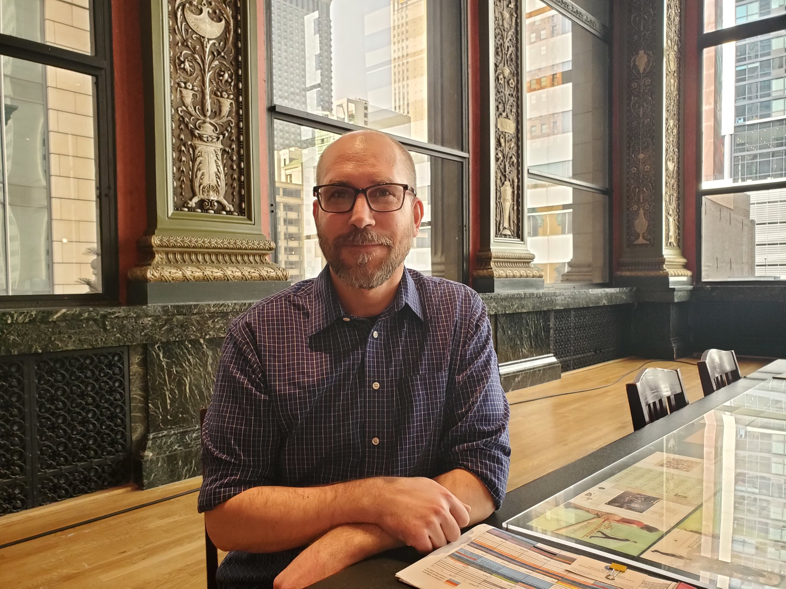 John Rich, DCASE dance & theater coordinator and co-curator of Goat Island Archive