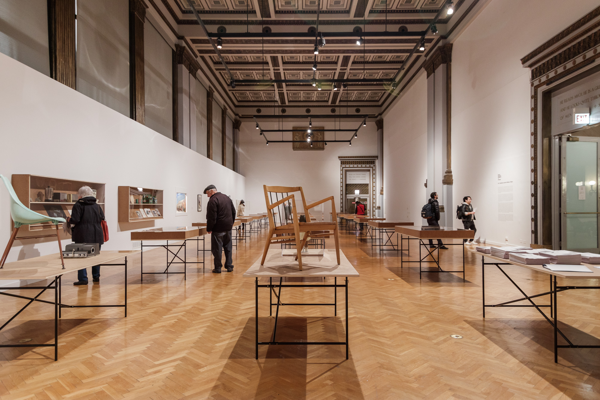 Installation view, African American Designers in Chicago: Art, Commerce, and the Politics of Race at the Chicago Cultural Center, 2018. Photo credit: Jon Shaft.