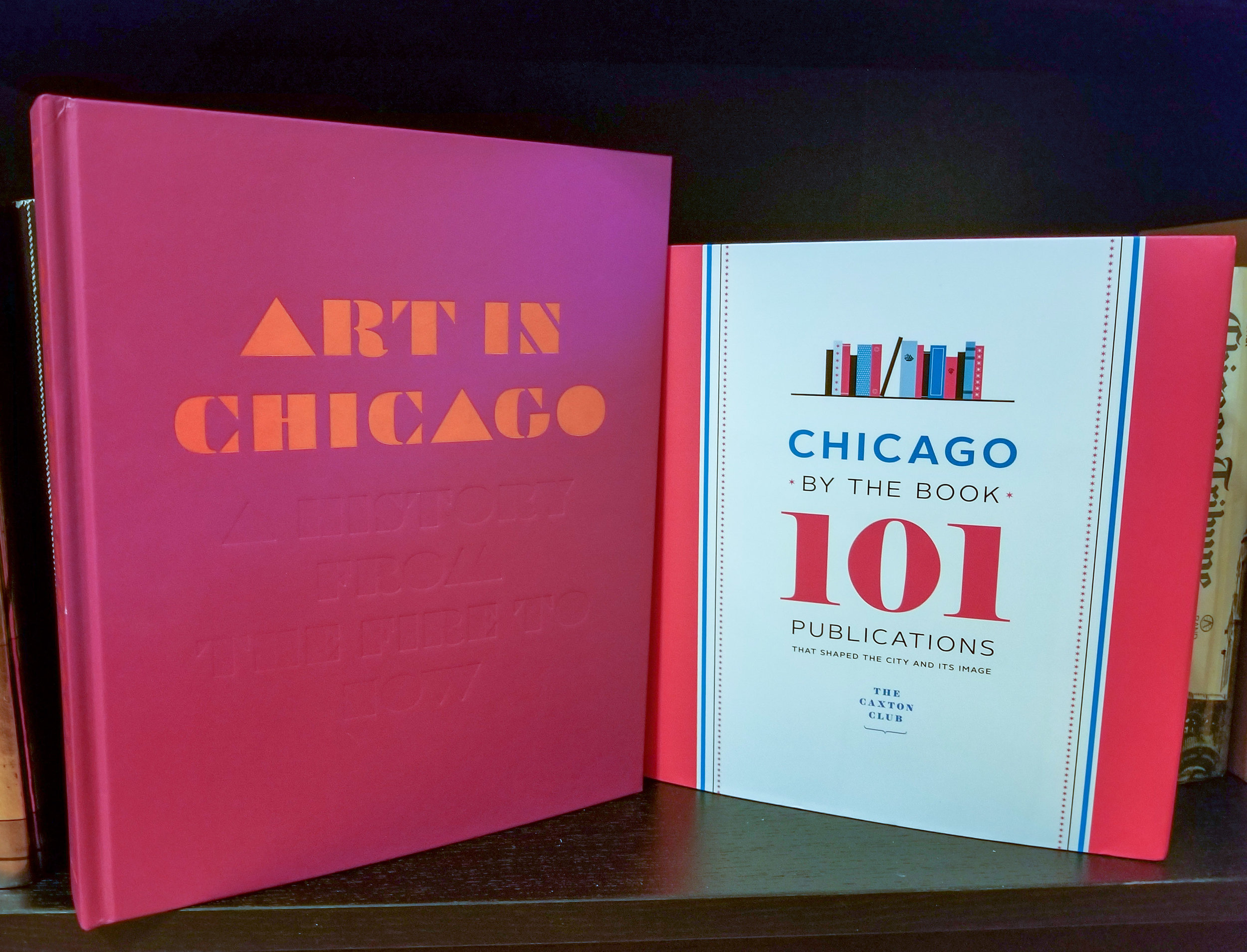 ART IN CHICAGO: From the Fire to Now and CHICAGO BY THE BOOK, two publications made possible by Art Design Chicago.