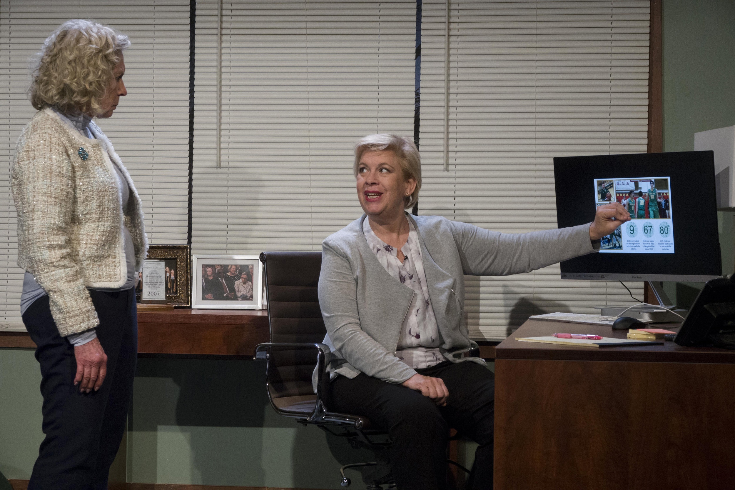 Judi Schindler and Meighan Gerachis in ADMISSIONS. Photo credit: Charles Osgood