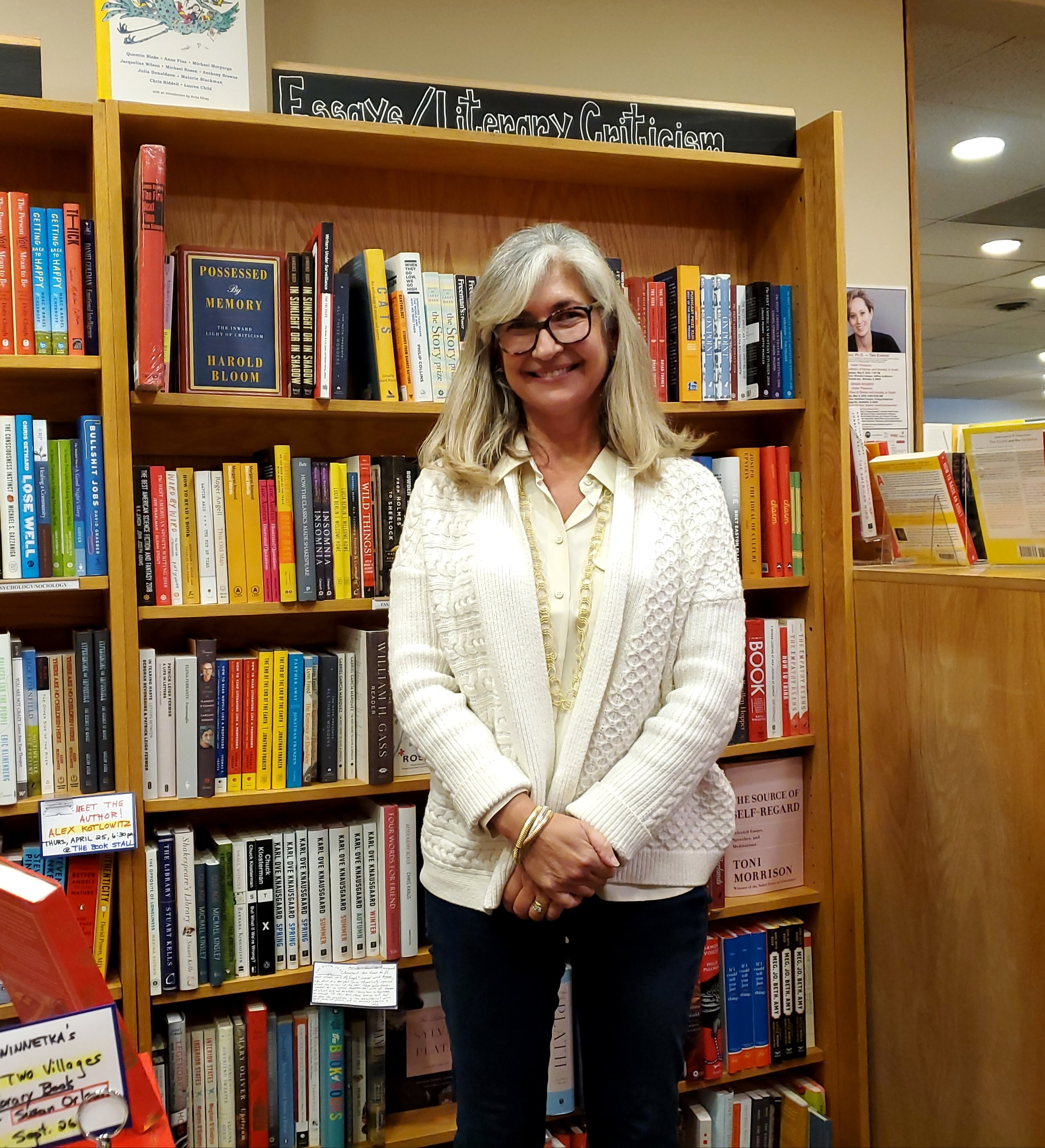 Stephanie Hochschild, owner of The Book Stall