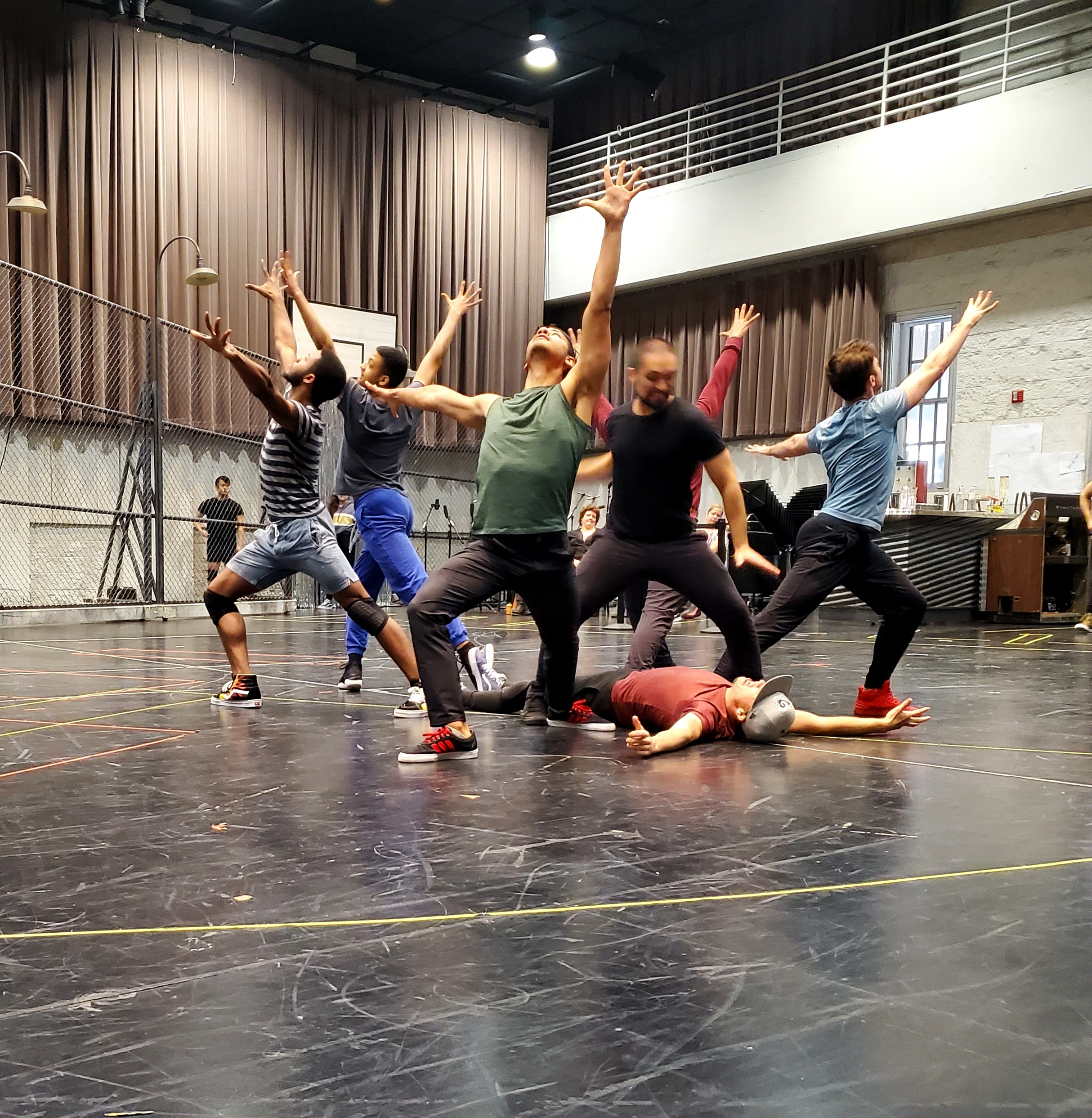 Cast members rehearsing Lyric Opera's upcoming production of WEST SIDE STORY